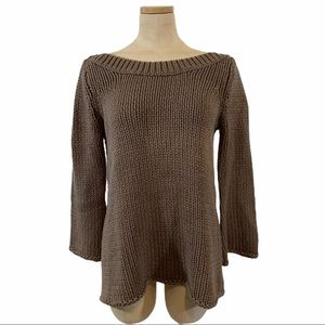 Soft Surroundings brown chunky knit sweater